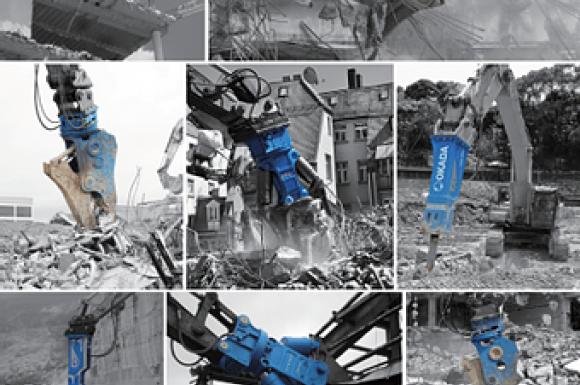 Vente des équipements hydrauliques de démolition OKADA à Condrieu