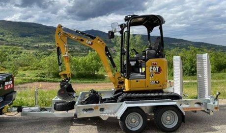 Vente et location de mini-pelle CAT 301.7 CR pour travaux de terrassement à Vienne